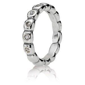 Pandora Bright Lights Stackable Ring Ice Sz 7 /54